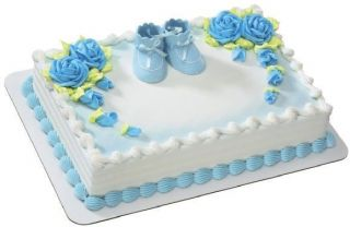 Blue Boy Baby Booties Cake Topper DecoSet Create Your Own Cake Look
