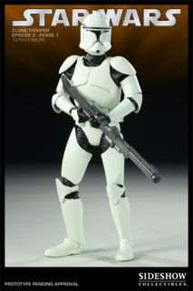 Star Wars Clone Trooper 1st Phase Armor Sideshow 12 Figure Line