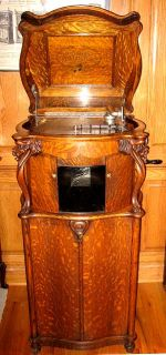 oak lions head reginaphone 15 1 2 columbia grafonola disc music box