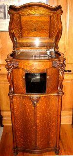 oak lions head reginaphone 15 1 2 columbia grafonola disc music box