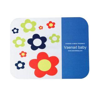 New Vaenait Baby Laptop Computer Mouse Pad Mat Mouse Pad White Flower