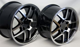Mirror Black Corvette Z06 Wheels 17x9 5 18x10 5 ZO6 Camaro Rims 17 18
