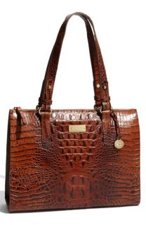 Brahmin Anywhere Croc Embossed Leather Tote