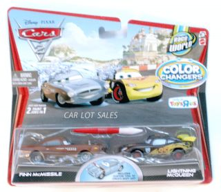 Disney Pixar Cars 2 Color Changers Finn McMissile and Lightning