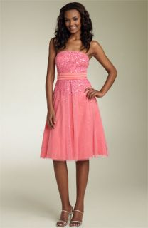 Adrianna Papell Beaded Strapless Party Dress