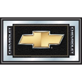 Mirror Chevy Logo Chevrolet Framed Garage Wall Mirror