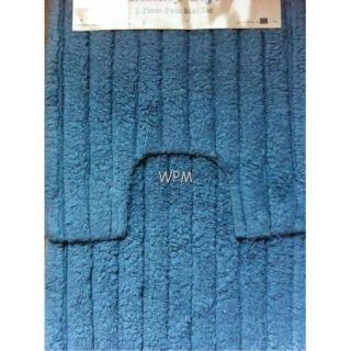 Pc BATHROOM rug set 100% cotton blue bath mat toilet contour luxury