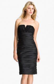 ML Monique Lhuillier Bridesmaids Ruched Strapless Taffeta Dress ( Exclusive)