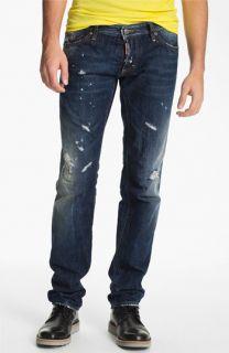 Dsquared2 Slim Fit Jeans (Distressed Blue)