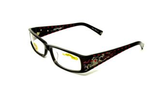 ED HARDY EH 0723 BLACK S.56 RX GLASSES PLASTIC EYEGLASSES AUTHENTIC