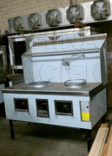 Burner Chinese Wok Range Natural Gas Commercial Restaurant New