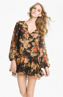 Haute Hippie Rose Print Drop Waist Dress