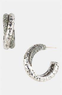 St. John Collection Swarovski Crystal Hoop Earrings