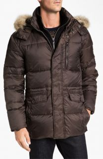Marc New York by Andrew Marc Alpine Ultra Down Jacket with Genuine Coyote Fur Trim