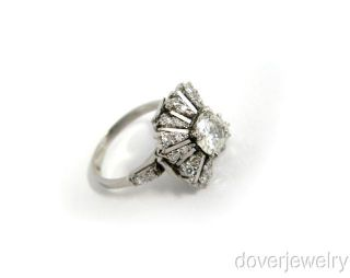 Antique Diamond 18K Gold Cluster Engagement Ring