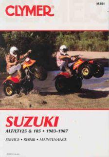 1984 1987 Suzuki LT185 185 Clymer Repair Service Manual