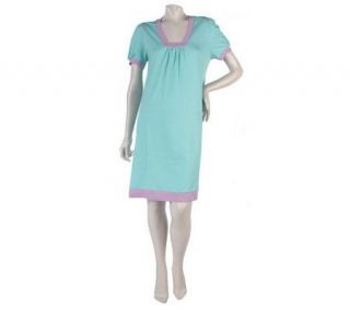 Stan Herman 100Solid Cotton Jersey Sleep Gown —