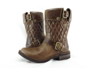 Womens Shoes UGG Australia Conor Diamond Quilted Motorcycle Boots