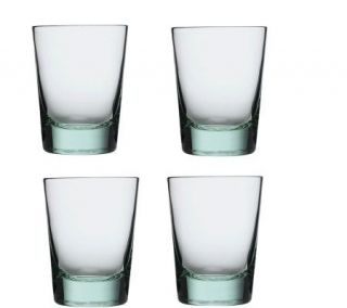 Luigi Bormioli Set of 4 Recycled Glass 13 oz Tumblers —
