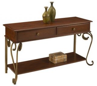 Home Styles St. Ives Console Table Cinnamon Finish —