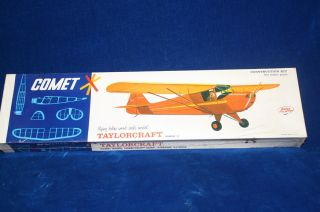 Unopened Comet Taylorcraft 54 Wingspan Flying Balsa Wood Model Kit