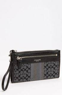 COACH Signature Stripe   Zippy Wallet