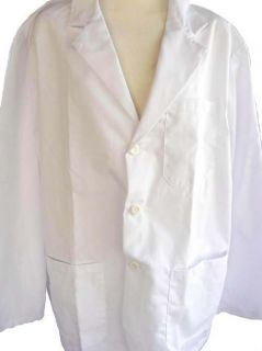 Uniform Medical Scrubs Mens White Lab Coat Sz 50