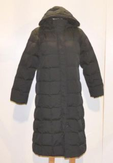 Lands End Size Small Womens Black Down Feather Long Winter Coat