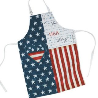 Heart Red White & Blue All American Kitchen Cooking Chef Butcher Apron