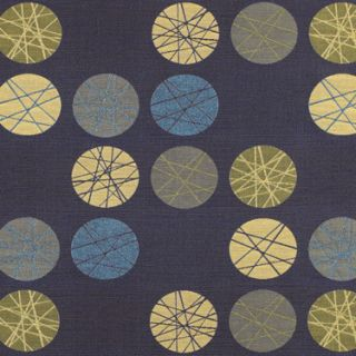 Fathom Woven Mid Century Modern Shapes Blues Upholstery Fabric