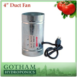 inch 100CFM Duct Fan Booster Inline Cool Air Blower Vent F050