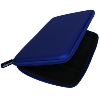 Blue Zipper Carry Case Cover for the Coby Kyros 7 Inch Tablet 7