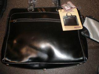 Compucase Deluxe Leather Portfolio Computer Laptop Bag