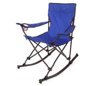 Portable Folding Rocking Chair w/Carrying Bag —