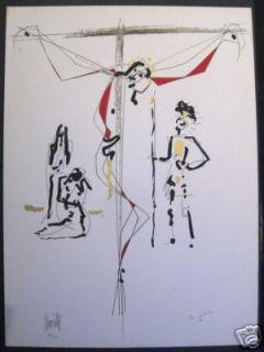Cocteau Moretti Picasso Jesus Christ God Litho Vintage