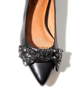 NIB 7.5 $129 Corso Como Attitude Black Leather Silver Studded Shoes