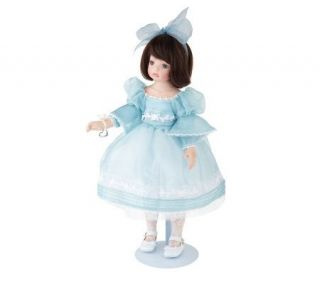 Alyssa Blue Limited Edition 17 Standing Porcelain Doll by Marie