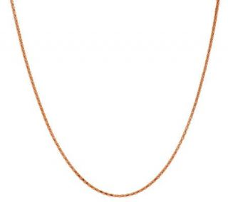 18K Rose Gold Plated Sterling 18 Coreana Chain —
