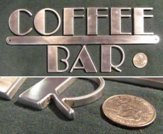 direct ligi art deco machine age metal coffee bar sign