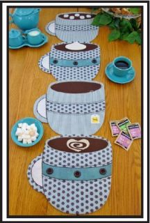 Up Placemat Tablerunner Table Runner Pattern DIY Susie C Shore Coffee