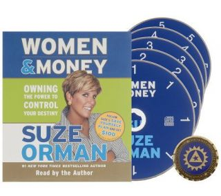 Suze Orman Women & Money 5 CD Audio Book with Coin —