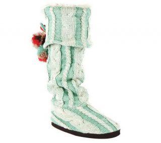MUK LUKS Anika Scandinavian Cuffed Slipper Boots —