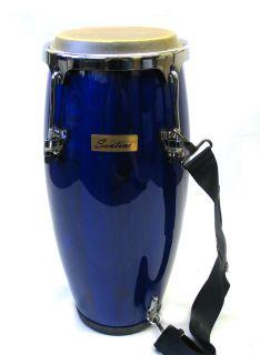 New Santini Large Blue African Conga Drum 21 5 Tall w 8 Head