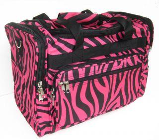 Pink Zebra Duffle Bag Luggage Carry on Overnight 16