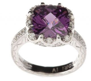 Tacori IV Diamonique Epiphany Simulated Amethyst Ring —