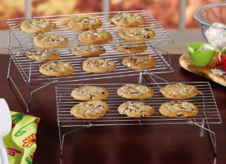 Stackable 3 Tier Cookie Cooling Racks   Stainless Steel ~NEW~