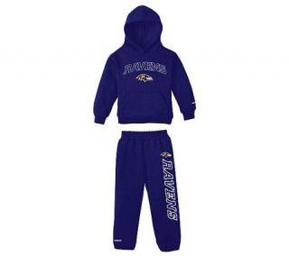 NFL Baltimore Ravens Toddler Hooded Fleece andPants Set —