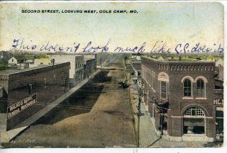 Cole Camp Missouri Balke Berry Store Downtown Street Scene Vintage