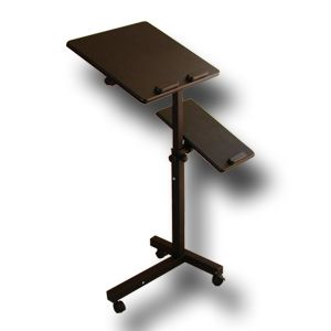 Rolling Laptop Table w Tilltable Tabletop Overbed Desk TV Food Tray