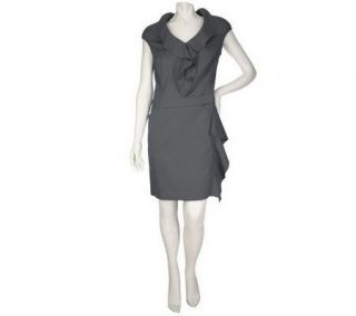 Davies by Erica Davies Stretch Cotton Dress with Ruffle Front